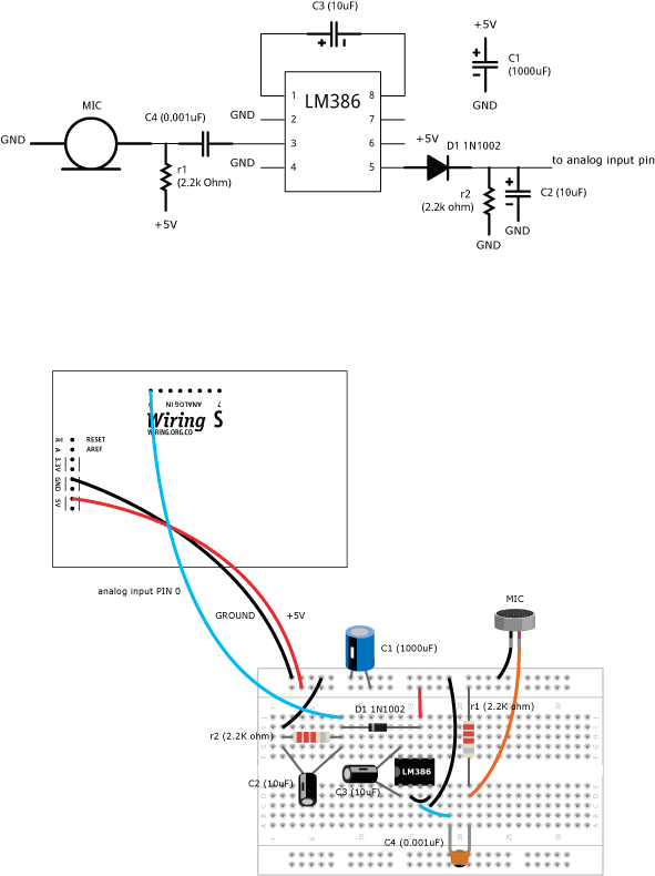 microphone learning wiring