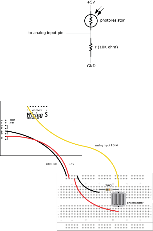 Photoresistor Learning Wiring