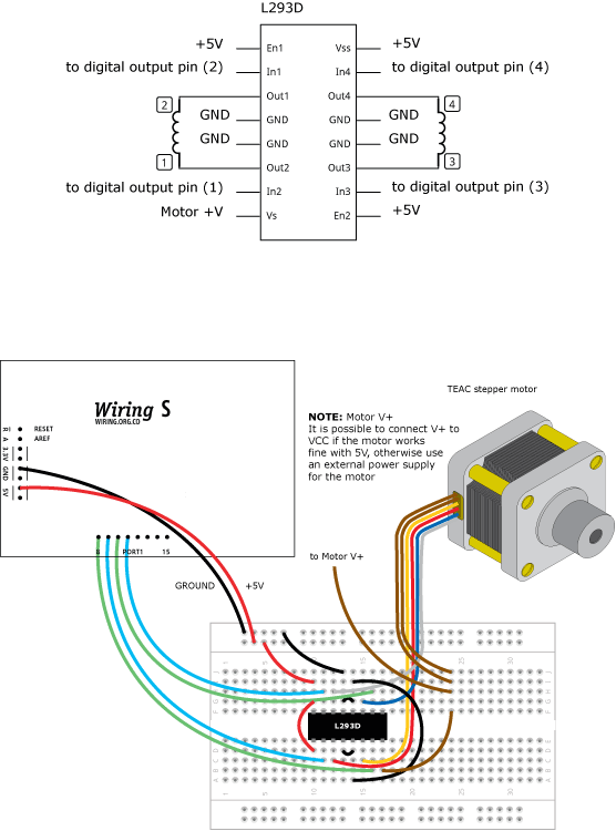 Pleasing Steppermotor Learning Wiring Basic Electronics Wiring Diagram Wiring 101 Capemaxxcnl